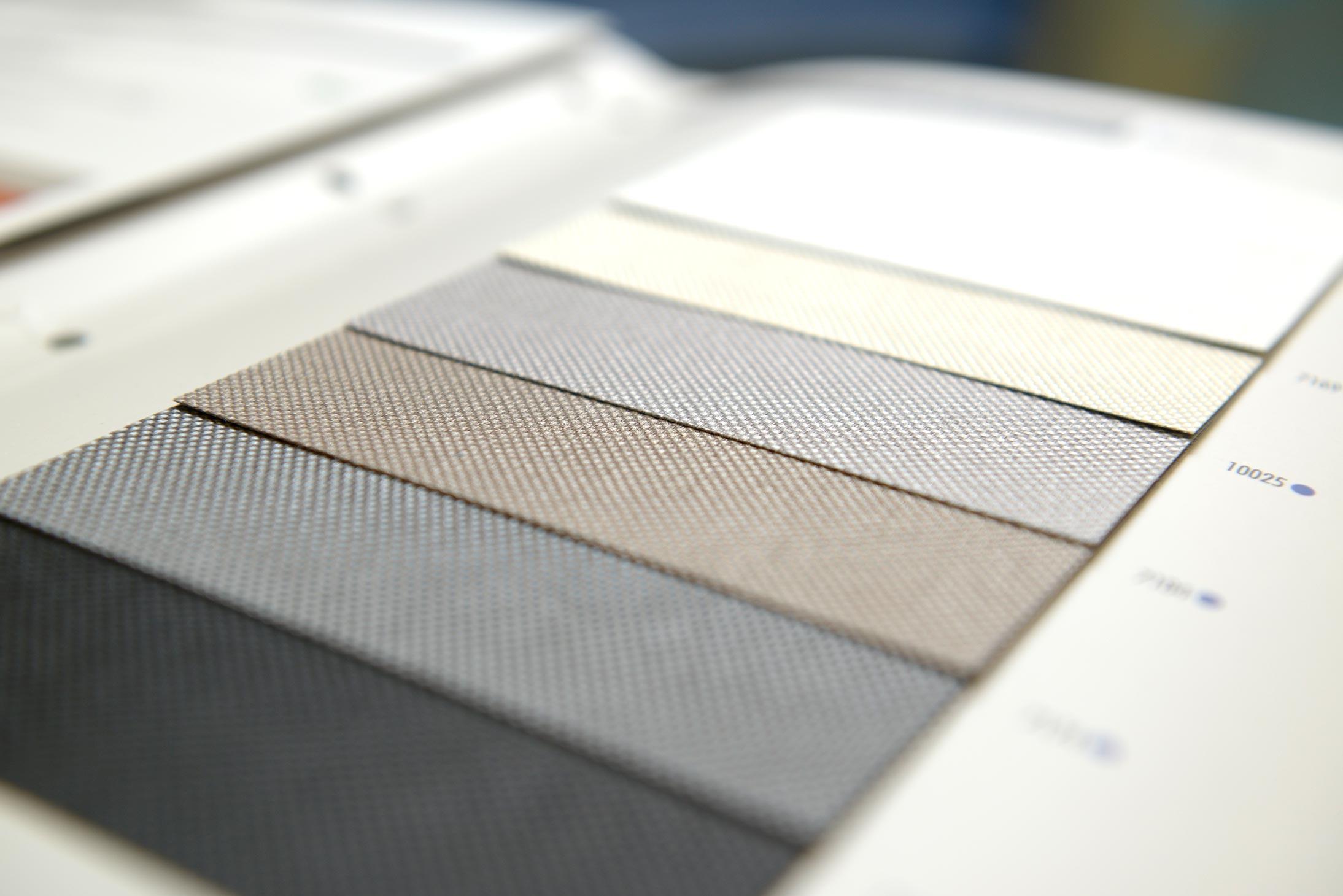 Cartelle colori tessuti